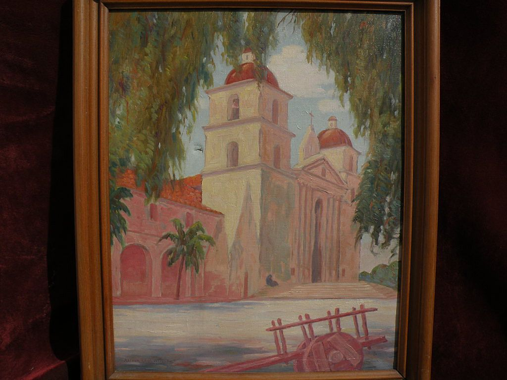 Arthur Carl Weigle Vintage California Plein Air Art 1930