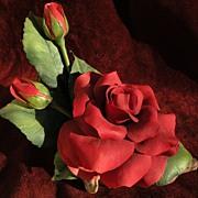 """SALE PENDING BOEHM porcelain 1980 limited edition ceramic floral table sculpture """"Alec's"""