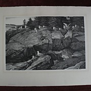 """STOW WENGENROTH (1905-1978) American printmaking pencil signed limited edition lithograph """""""