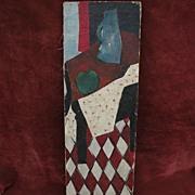 HENRI WORMSER (1909-) modernist mid century painting dated 1947