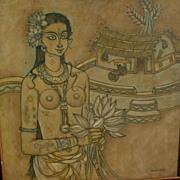 ABDUL RAHIMAN APPABHAI ALMELKAR (1920-1982) modern Indian art painting by well listed artist o