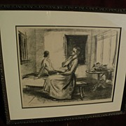 JOSEF FLOCH (1895-1977) signed numbered lithograph print by important Austrian American artist