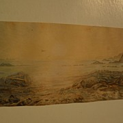 Alaskan art landscape watercolor as-is condition possibly by well listed Alaska and California