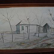 JOHN LIGGETT MEIGS (1916-2003) original Southwest watercolor landscape painting by realist ...