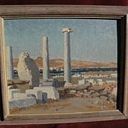 Greek Art impressionist painting by English artist Nancy Ballantine-Dykes circa 1940