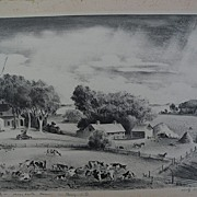 "ADOLF DEHN (1895-1968) pencil signed limited edition lithograph print ""Minnesota Farm"""