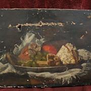 BERTHA LUCE EMERY (1873-1957) early California art still life painting needs restoration