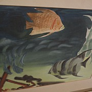 ELIOT O'HARA (1890-1969) original watercolor painting of tropical reef fish dated 1951 by well