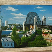 Sydney Harbour Bridge Australian art original signed contemporary oil painting