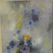 HERMANN DIETRICH (1916-2003) original floral fantasy oil painting by listed California impress