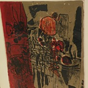 CORNEILLE (1922-2010) pencil signed aquatint etching limited edition print dated 1960 by ...