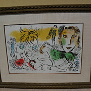 """MARC CHAGALL (1887-1985) original lithograph in colors """"Monumental"""" 1973 Collector's"""