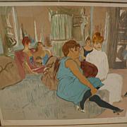 """HENRI TOULOUSE-LAUTREC (1864-1901) limited edition lithographic interpretation of """"Au Sal"""