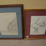 THOMAS SHOTTER BOYS (1803-1874) **pair** of pencil drawings by important English 19th century