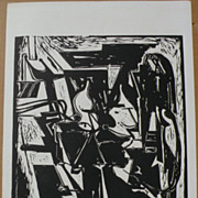 HANS BURKHARDT (1904-1994) signed numbered print by important Swiss-born California modern art