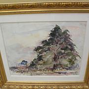 JOSEPH RAPHAEL (1869-1950) Impressionist major European and California artist watercolor paint