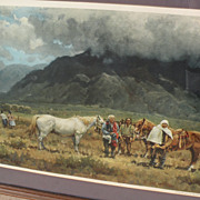 MELVIN CHARLES WARREN (1920-1995) Western American art pencil signed print by well listed arti