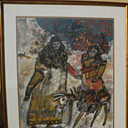 THEODORE TOBIASSE (1927-) pencil signed limited lithograph by important School of Paris Jewish