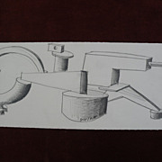 PETER SHIRE (1947-) internationally known California contemporary artist original pencil ...