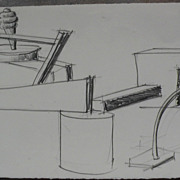 PETER SHIRE (1947-) internationally known California contemporary artist original drawing on .