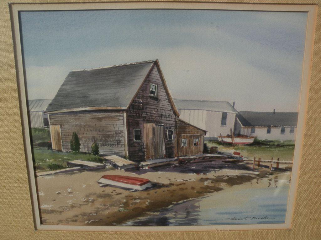 Robert Brooks 1922 1992 Original Watercolor Painting Of