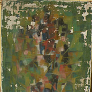 GIOVANNI GIULIANI (1893-1965) Italian modern abstract art former 1957 gallery painting in poor