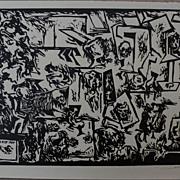 HANS BURKHARDT (1904-1994) signed numbered print by important Swiss-born California modern art