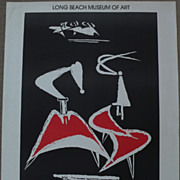 HANS BURKHARDT (1904-1994) signed museum exhibition poster from 1972 by important Swiss-born .