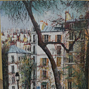 Contemporary French art Paris Montmartre scene signed impressionist painting