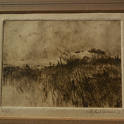 MICHAEL B. COLEMAN (1946-) pencil signed limited edition etching by well known western America