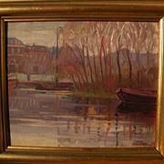 CAMILLO (CARL) BROCKELMANN (1883-1963) Austrian art fine early impressionist landscape paintin