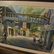 RUTH BADERIAN (1927-2010) fine watercolor painting of Virgin Islands by listed watercolorist a