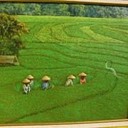SRI MARTHA (1941-) contemporary Indonesian art colorful impressionist landscape painting of em