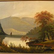 Hudson River School luminous 19th century American painting