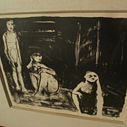 WILLIAM THEOPHILUS BROWN (1919-2012) pencil signed numbered early lithograph by the well known