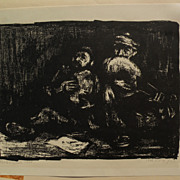 MIRON SIMA (1902-1999) pencil signed 1949 lithograph by well listed Russian born Israeli artis