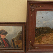 WILLIAM WALKER MORRIS (fl. 1850-1867) English art **PAIR** of paintings preserved from an orig