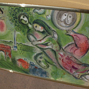 """MARC CHAGALL (1887-1985) original lithograph print """"Romeo and Juliet"""" printed by Mou"""