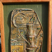 JACK A. SHELDEN (1921-1998) painted plaster sculpture India inspired subject