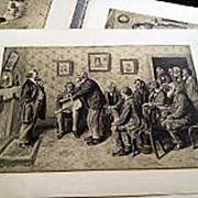 ARTHUR BURDETT FROST (1888-1966) folio of six prints by the important American illustrator art