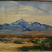 GEORGE BARKER (1882-1965) California plein air art impressionist western mountain landscape pa