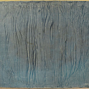 Circa 1970's blue abstract painting signed KARL McINTOSH