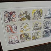 PIERRE ALECHINSKY (1927-) CoBra post war modern art major artist signed numbered limited editi