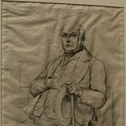 CHARLES MERYON (1821-1868) original etching of Casimir Le Conte by the important 19th century