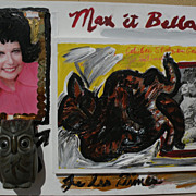 SIMONE GAD (1947-) contemporary California assemblage art dated 2005