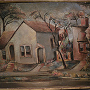 """BENJAMIN ALBERT STAHL (1910-1987) expressionist oil painting """"Laurel Ave."""" by import"""