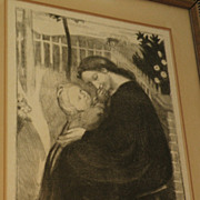 MAURICE DENIS (1870-1943) pencil signed limited edition lithograph by major French Symbolist a