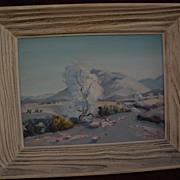 California plein air art impressionistic desert painting circa 1950's