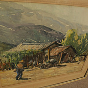 "WILLIAM T. McDERMITT (1884-1961) watercolor landscape ""Mexico 1940"" by well listed C"