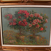 SOLD ANDREAS ROTH (1871-1949) vintage impressionist still life 1944 painting by German-Califor